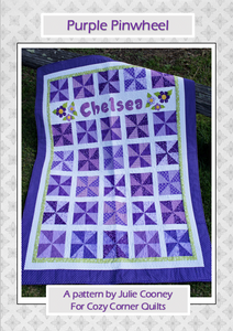 Purple Pinwheel PDF Quilt Pattern
