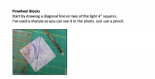 Load image into Gallery viewer, Purple Pinwheel PDF Quilt Pattern