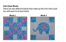 Load image into Gallery viewer, Baby Blue Irish Chain PDF Quilt Pattern