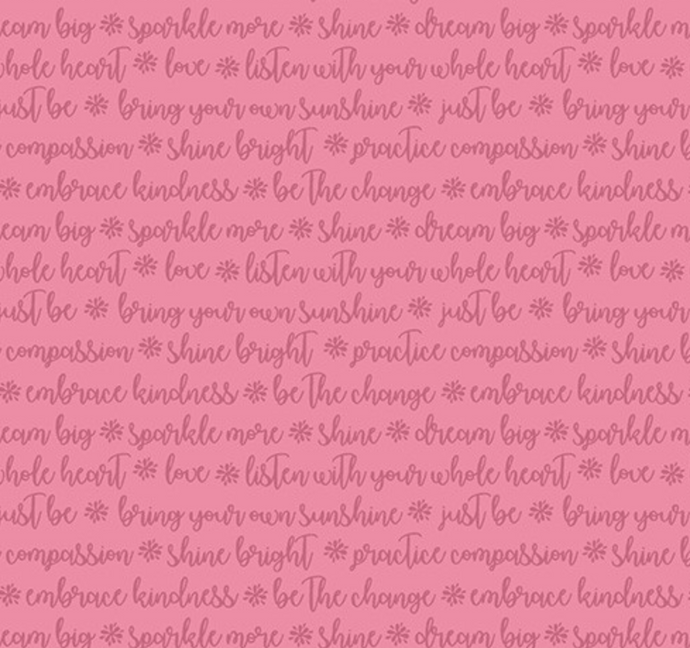 Choose to Shine - Words of Kindness Pink (on sale)