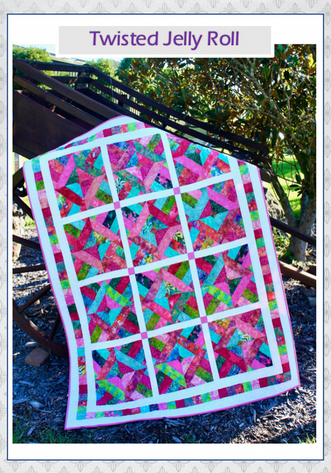 Twisted Jelly Roll PDF Quilt Pattern - Free!