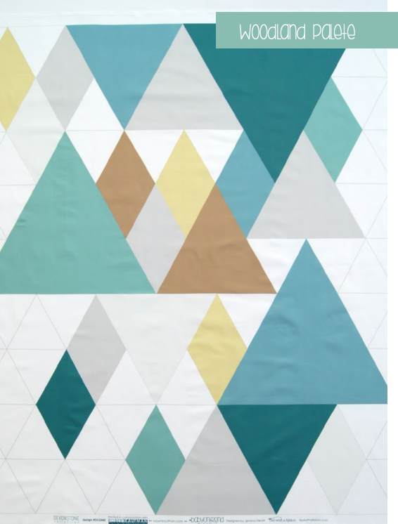 Baby on Trend Quilt Kit - Woodland Colourway