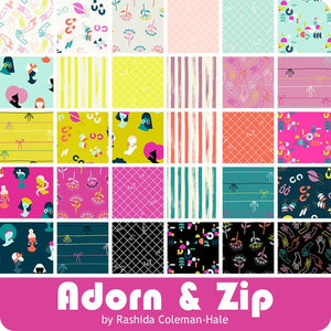 Adorn & Zip - 2.5 inch Jelly Roll - 40 pieces