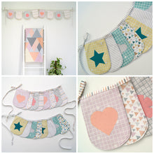 Load image into Gallery viewer, Applique Bunting Paper Pattern