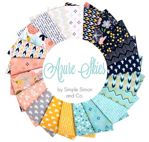 Azure Skies Fat Quarter Bundle – 21 pieces