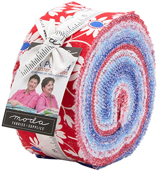 Moda Back Porch 2.5 inch Jelly Roll - 40 pieces