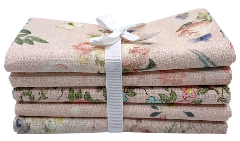 Rose & Violet's - Fat Quarter Bundle - Blush - 5 pieces