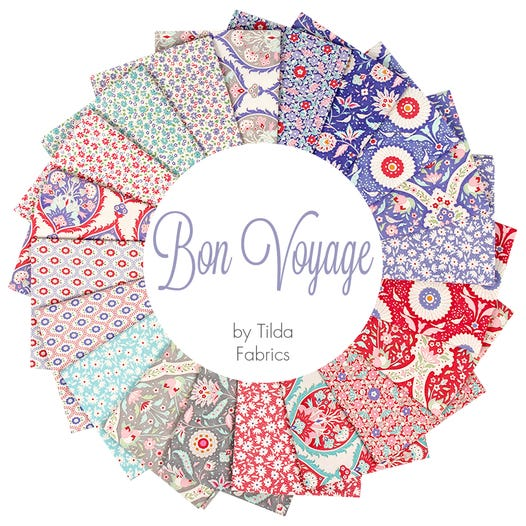 Tilda Bon Voyage Bundle of 20 Fat Quarters
