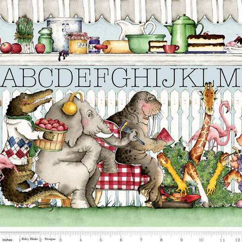 Hungry Animal Alphabet Border Stripe