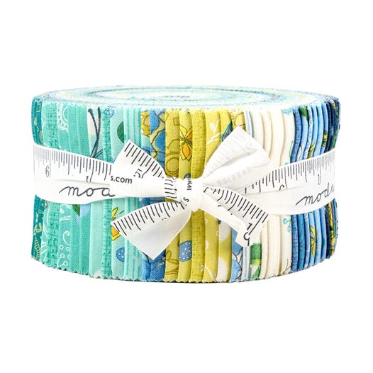 Cottage Bleu 2.5 inch Jelly Roll - 40 pieces