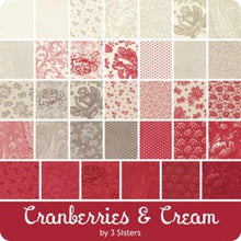 Load image into Gallery viewer, Cranberries & Cream - Charm Squares