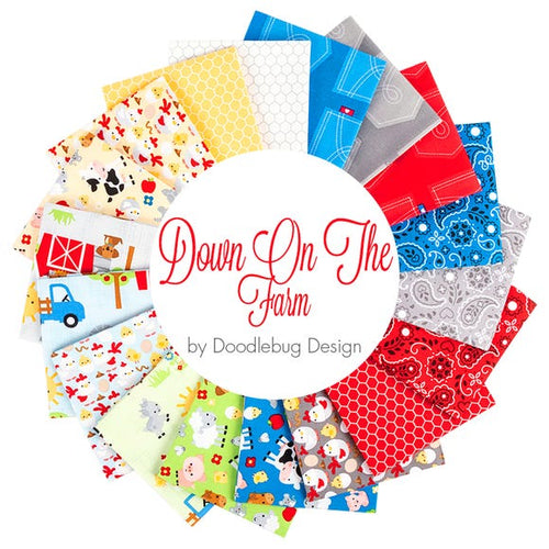 Down on the Farm Fat Quarter Bundle – 18 pieces