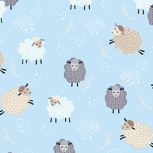 Sweet Dreams - Dreamy Sheep - Sky Blue