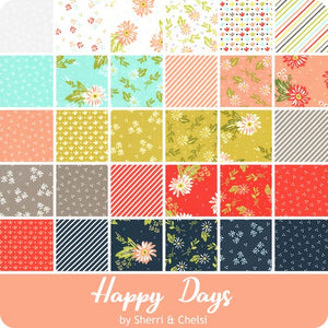 Happy Days 2.5 inch Jelly Roll - 40 pieces