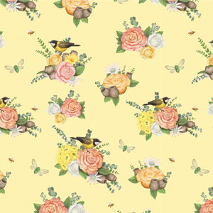 Native Nursery Allover in Floral Yellow