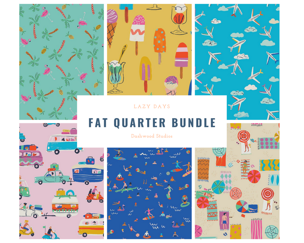 Lazy Days Fat Quarter Bundle - 6 pieces
