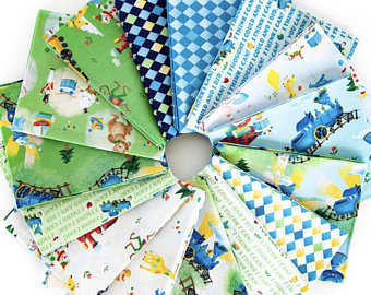 The Little Engine that Could Fat Quarter Bundle – 15 pieces