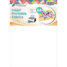 Load image into Gallery viewer, Matilda's Own Inkjet Printable Fabric Sheets A4 Size -5 Sheets per pack