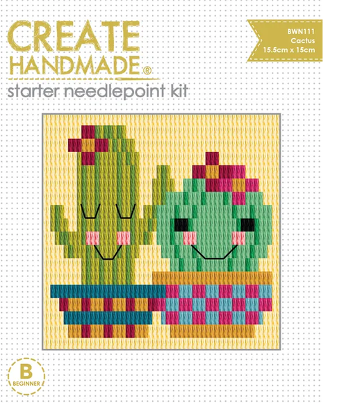Create Handmade Starter Needlepoint Kit - Cactus