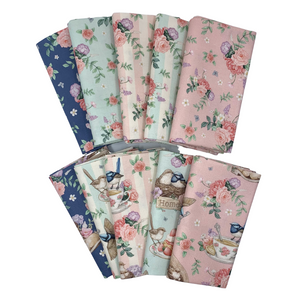 Little Wren Cottage Fat Quarter Bundle - 10 pieces