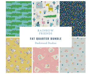 Rainbow Friends Fat Quarter Bundle - 6 pieces