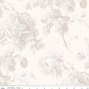 "Rose Garden Cream wideback - 108"" (sold by 1/2 metre)"
