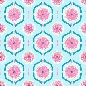 Sweet Botanicals - Gumnut Flowers Tile Light Blue (on sale)