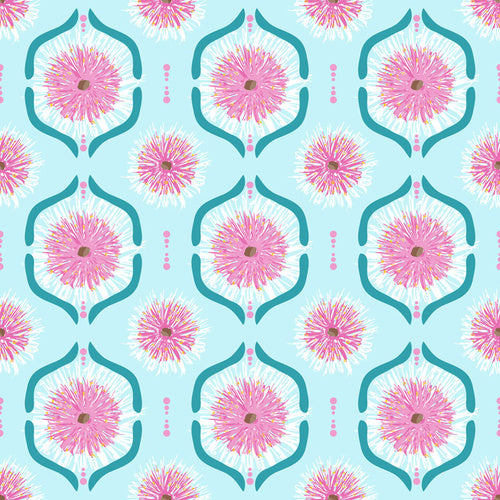 Sweet Botanicals - Gumnut Flowers Tile Light Blue