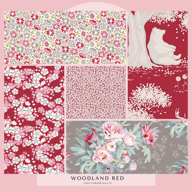 Woodland - Fat Quarter Bundle - Reds - 5 pieces