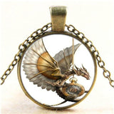 Steampunk Necklace Dragon