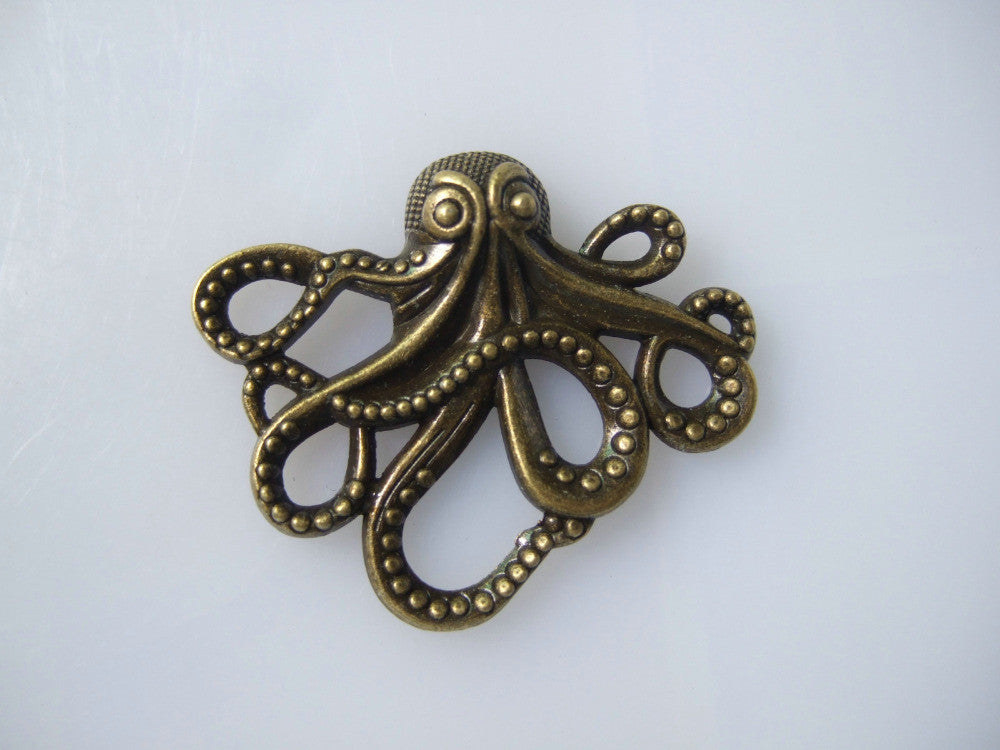 Steampunk Jewelry Octopus Charm