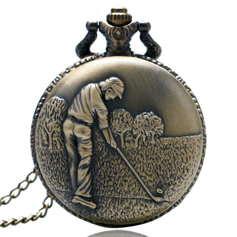 Steampunk Pocket Watch Golfer