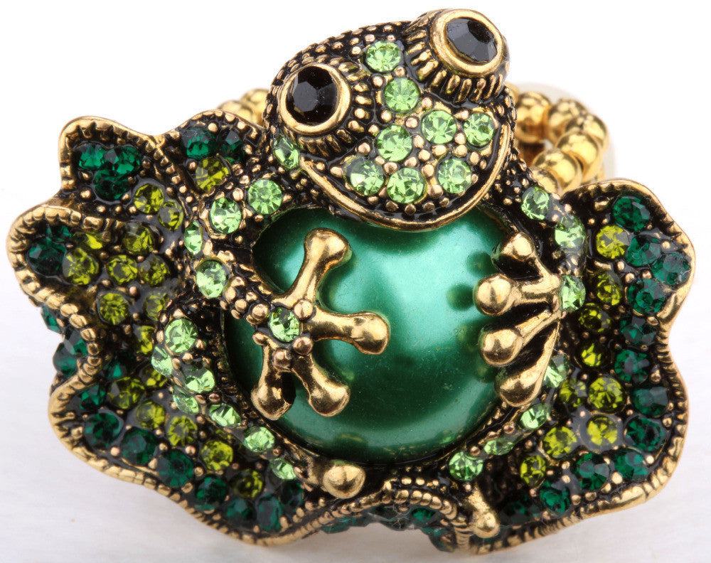 Steampunk Frog Stretch Ring for Women
