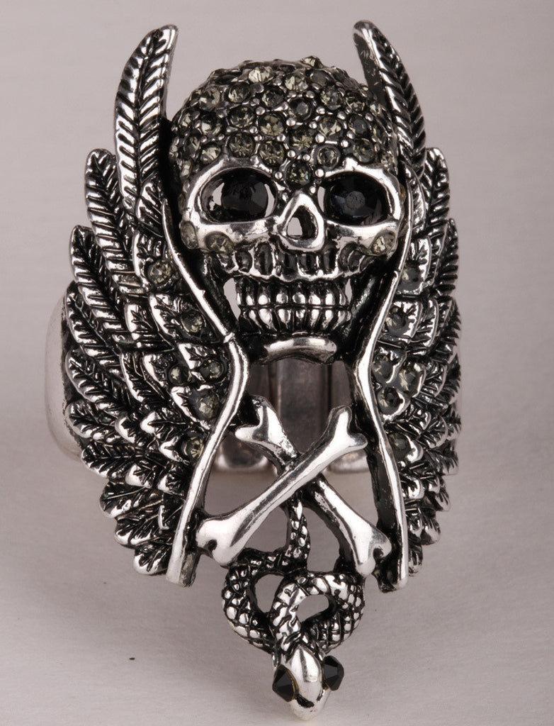 Steampunk Skull Ring for Women