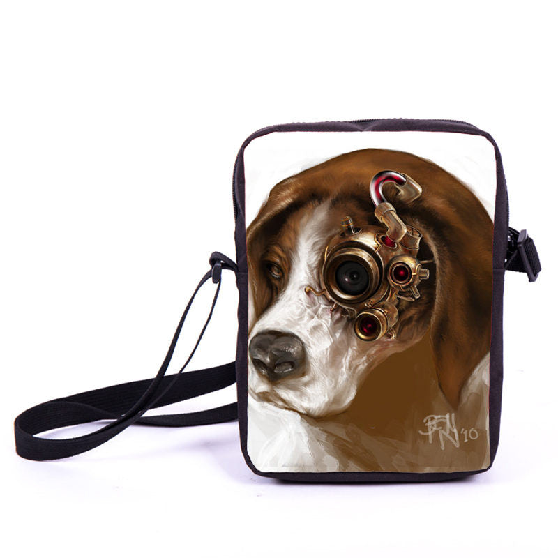 Steampunk Hunting Dog Mini Bag