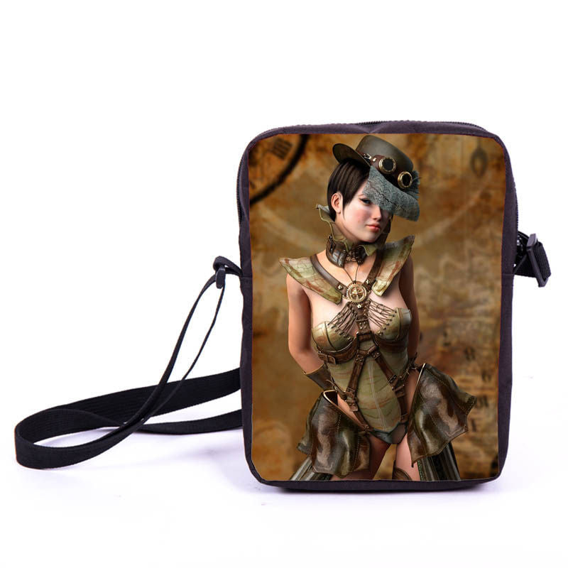 Steampunk Mysterious Lady  Mini Bag