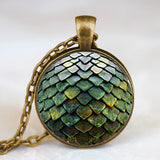 Steampunk Dragon Egg Necklace