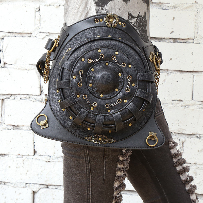 Steampunk Shield Shape Waist Bag