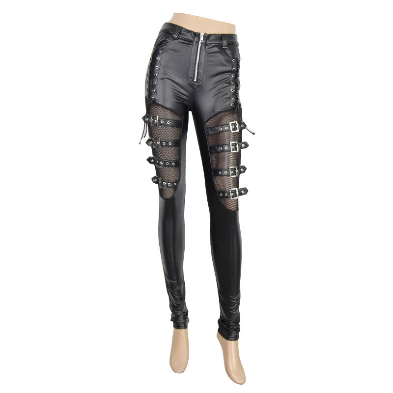 Steampunk Pants with Straps Plus Size