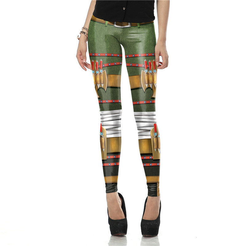 Steampunk Leggings Print Stripes