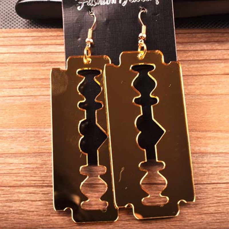 Steampunk Earrings Razor