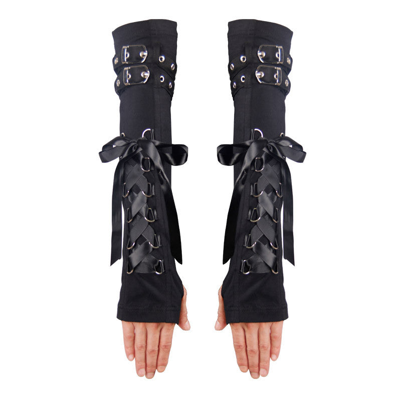 Steampunk Gloves Fingerless Long