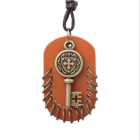 Steampunk Necklace Retro Key