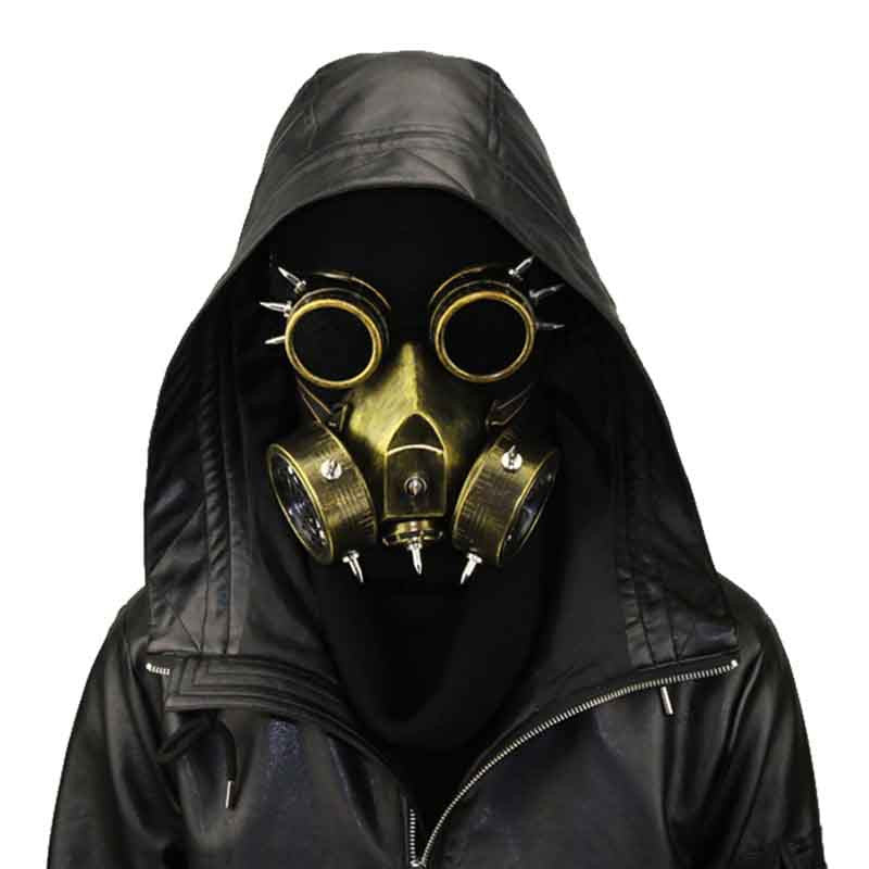 Steampunk Gas Mask & Retro Goggles