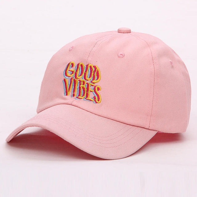 Red Good Vibes Dad Hat