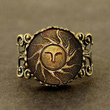 Steampunk Sun Dark Soul Ring