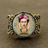 Steampunk Frida Kahlo Ring