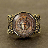 Steampunk Ancient Greek Medusa Ring