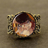 Steampunk Gustav Klimt RIng