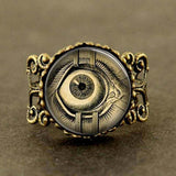 Steampunk The Doomed Eye RIng